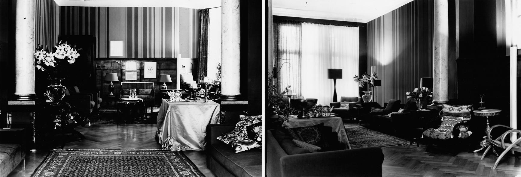 Salon schwarz-weiß